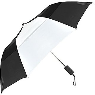 Stromberg Brand The Vented Windproof Umbrella, Black/White, One Size
