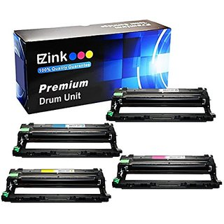 E-Z Ink (TM) Compatible Black, Cyan, Magenta, Yellow Drum Unit Replacement For Brother DR221CL (1 Black, 1 Cyan, 1 Magen