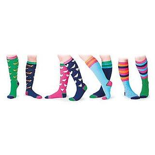 Shires Ladies Everyday Fox Socks Navy