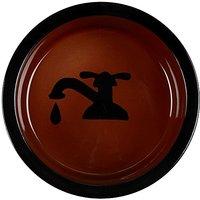 Melia Pet Tap Ceramic Dog Bowl - Brown - Large