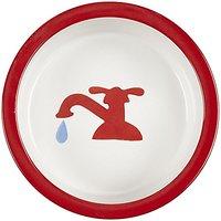 Melia Pet Tap Ceramic Dog Bowl - Red - Medium