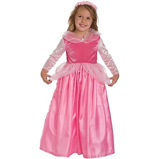 2 Item Bundle: Little Adventures Sleeping Beauty Princess Dress Up Costume + Hair Bow - Girls Size 3T 4T 5- Machine Wash