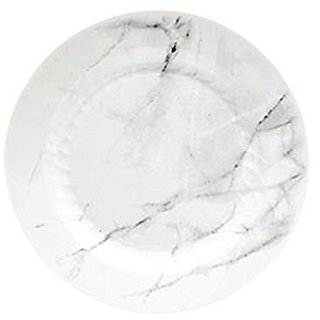 WNA EMP75W6QRY Textures Quarry Round Plastic Plate with Marble Look, 7.5