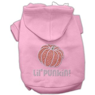 Mirage Pet Products 8-Inch Lil Punkin Hoodies, X-Small, Pink