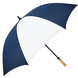 Stromberg Brand The Hole In One Golf Umbrella, Navy Blue/White, One Size
