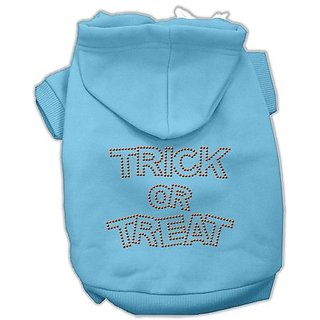 Mirage Pet Products 14-Inch Trick or Treat Rhinestone Hoodies, Large, Pink