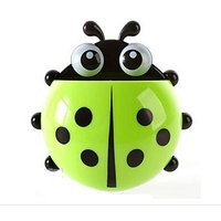 Petmall 1pcs Home Accessories Cartoon Ladybird Toiletries Toothpaste Holder Bathroom Sets Suction Hooks Tooth Brush Hold