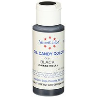 Americolor Candy Oil Food Color, 2-Ounce, Black
