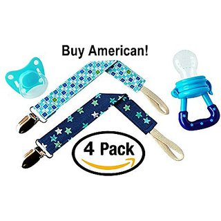 2 Pack of Pacifier Clips - Great For Holding Teething Rings, Pacifiers, Toys, Blankets, Baby Bibs and Makes For an Aweso