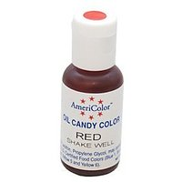 Americolor Oil Candy Food Coloring, 0.65-Ounce, Red