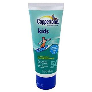 Coppertone Spf#50 Kids Lotion 3oz Tube (2 Pack)