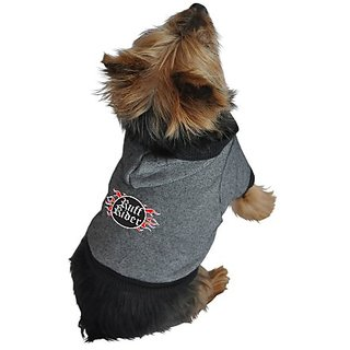 Ruff Ruff and Meow Dog Hoodie, Ruff Rider, Black, Extra-Large