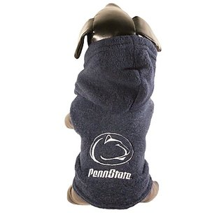 NCAA Penn State Nittany Lions Polar Fleece Hooded Dog Jacket, XX-Small