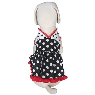 UP-Collection Sexy Polka Dot Halter Dress for Pets, X-Small