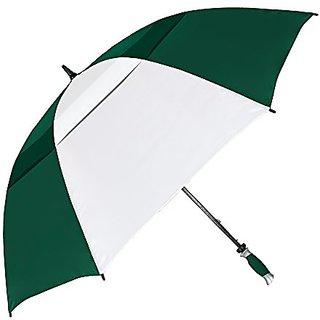 Stromberg Brand The Vented Tornado Golf Umbrella, Hunter Green/White, One Size
