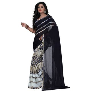 Janasya Navy Georgette Saree