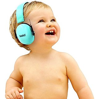 Bebe By Me International BEBE Muff Hearing Protection - BEST USA Certified Noise Reduction Ear Muffs, Mint, 3 Months+