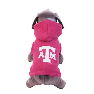 NCAA Texas A&M Aggies Polar Fleece Hooded Dog Jacket, X-Large