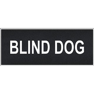 Blind Dog Large nylon velcro patches by Dean & Tyler.