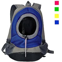 Dog Carrier, YAMAY Pet Cat Carrier Backpack Front Pack Nylon Mesh For Small Medium Cats Dogs Zipper Travel Bag Lightweig