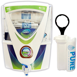 Aqua Ultra Candy A1012 17L RO+UV+UF Water Purifier (White)