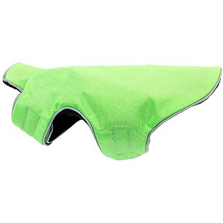 Bluemax 8-Inch Dog Coat, 3X-Small, Lime