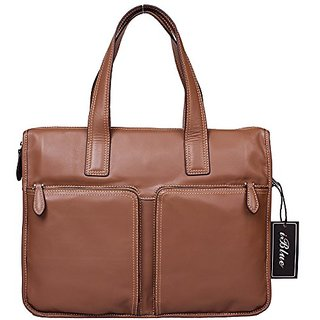 Iblue 15Excellent Grain Leather Laptop Mesenger Bag Handbag Briefcase#1126-1