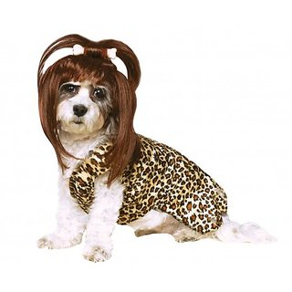 Rubies Costume Company Cave Girl Pet Costume and Wig, Large