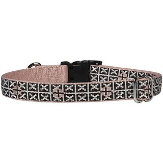 Waggo Seeing Stars Collar - Charcoal - Medium - 15-22 x 3/4 inches