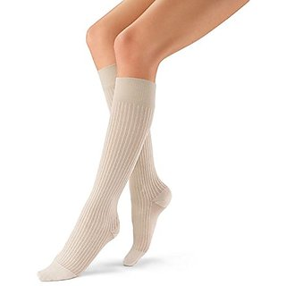 BSN Medical 120322 Jobst Sock, Knee High, Ribbed, Closed Toe, 15-20 mmHG, X-Large, White