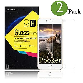 iPhone 7 Plus screen protector, 2-Pack Pooker 0.3mm Tempered Glass Screen Protector for iPhone 7 Plus
