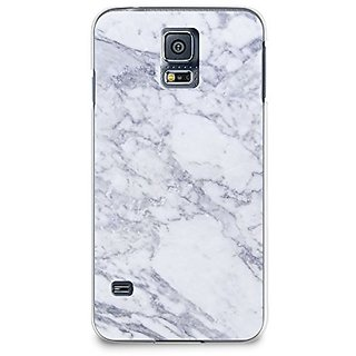 Case for Samsung S5, CasesByLorraine Gray Marble Print Case Plastic Hard Cover for Samsung Galaxy S5 (X03)