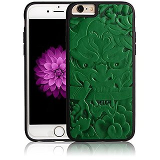 UPPEL For iPhone 6S/6 Case Leather Carving Art Beautiful China Totem Flip PU Protector Case(China Totem-Green)