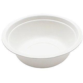 Durable Bagasse Eco-Friendly Rice Bowls 16oz Pack of 50 Bowls - Microwave Safe, Compostable, Made from Sugercane Fibers