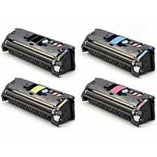 GLB Premium Quality HP 2550 /HP 122A Toner Cartridge Set ( Black , Cyan , Magenta , Yellow ) Q3960A Q3961A Q3962A Q3963A