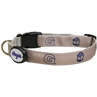 Dog-E-Glow Georgetown Univerisity Hoyas Lighted LED Dog Collar, Medium, 10-Inch by 15-Inch