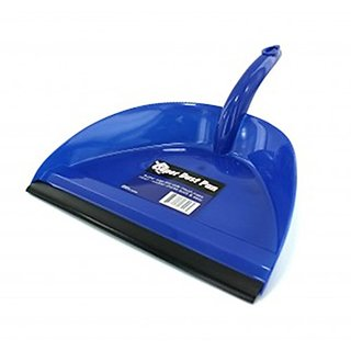 Wide Mouth Super Dust Pan with Serrated Teeth (Blue)