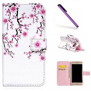 Samsung S6 Edge Wallet Case EMAXELER 3D Creative Relief Fantastic Romantic Colorful Cute Commuter Magnetic Closure PU Le
