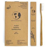 Toothbrush - Adult Natural Bamboo Toothbrush - Eco-friendly And Biodegradable - BPA-Free, Soft Nylon Bristles For Adults