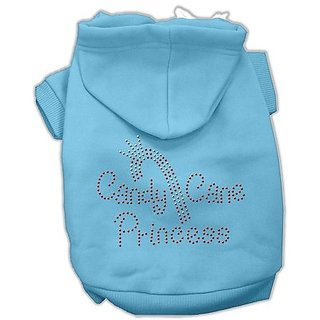 Mirage Pet Products 16-Inch Candy Cane Princess Hoodies, X-Large, Baby Blue