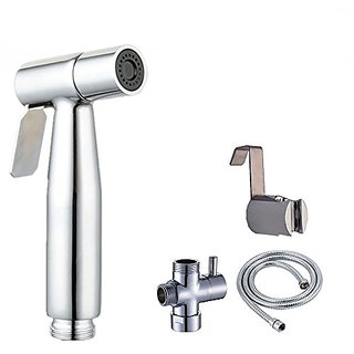 ShowerMaxx - Splash Free Cloth Diaper Sprayer Shattaf. Adjustable Toilet Attachment Bathroom Bidet Spray Includes Hose,