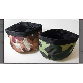 Set Of Two Collapsible Pet Bowls For Travel