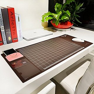 Cindy&Will Extra Large Protective Office Desk Mat/Mouse Pad/Table Organizer/Desk Protector/Card Schedule Pockets for Des