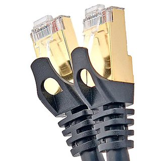CableSense - 13 Feet (4m) Cat6 Ftp Rj45 Professional Gold Headed Shielded Network Cable Lead - High Speed 500Mhz Premium