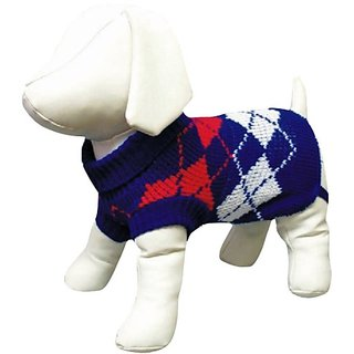 Amazing Pet Products Dog Sweater, 14-Inch, Blue
