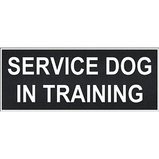 Service Dog In Training Medium nylon velcro patches by Dean & Tyler.