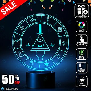 Gravity Falls Bill Cipher Wheel Lighting Decor Gadget Lamp + Sticker Decor for Perfect Set, Awesome Gift (MT026) By Holi
