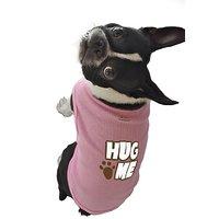 Ruff Ruff And Meow Dog Tank Top, Hug Me, Pink, Small