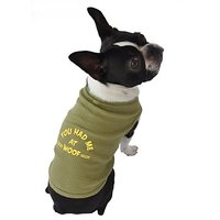 Ruff Ruff And Meow Dog Tank Top, You Had Me At Woof, Green, Large