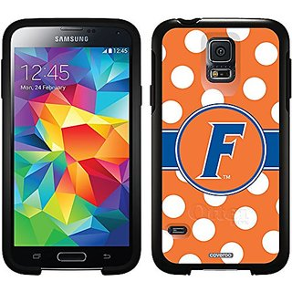 Coveroo University of Florida Polka Dots Design Phone Case for Samsung Galaxy S5 - Retail Packaging - Black